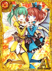 片翼の双子 ミミ&ララ 黒猫のウィズ